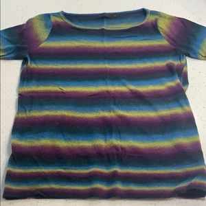 The Limited bright striped short sleeve sweater